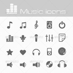 Music Icons Set   Buy and Download: http://graphicriver.net/item/music-icons-set/7192929?WT.ac=category_thumb&WT.z_author=nasik-nosik&ref=ksioks