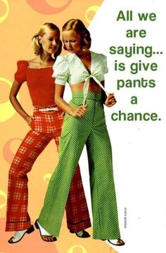Vintage Fashion I had some of those high waisted pants, and I looked like that in them too! (once upon a time) - 60s And 70s Fashion, Retro Fashion, Vintage Fashion, Womens Fashion, 1974 Fashion, Seventies Fashion, 1970 Style, Vintage Outfits, 70s Mode