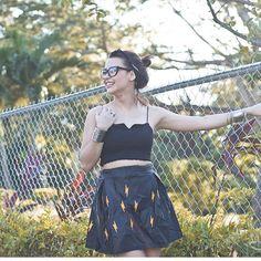 Lightning bolt leather skirt Yassi Pressman, Lightning Bolt, Leather Skirt, High Waisted Skirt, Dancer, Women's Fashion, Actresses, Skirts, Model