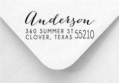 Return Address Stamp Modern Calligraphy by PrettySweetStamp
