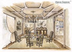 Эскизы интерьеров Ирены Барене Tower, Sketch, Building, Interior, House, Ideas, Chalets, Sketch Drawing, Rook
