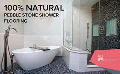 #Pebblestone #flooring has become very popular in recent years. This is no wonder, because the benefits of natural pebble stone are numerous! Pebble Stone flooring generally cost less than other long-lasting floors like #hardwood, #tile & #marble. Many homeowners are opting to go with pebble flooring because it is much cleaner than carpet, making it far friendlier towards those who have allergy and #asthma problems. Design options are absolutely infinite with pebble stone…