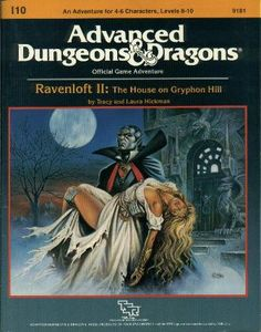 Ravenloft II: The House on Gryphon Hill : Module (Advanced Dungeons and Dragons) Dungeons And Dragons Books, Advanced Dungeons And Dragons, Pen And Paper Games, Classic Rpg, Forgotten Realms, Retro Video Games, Wizards Of The Coast, Game Design, Cover Art