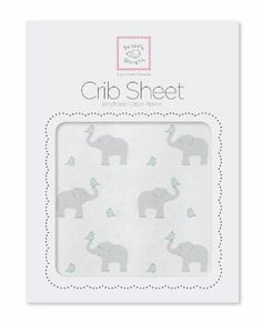 Amazon.com : SwaddleDesigns Fitted Crib Sheet, Pastel Pink Elephant and Chickies : Crib Sheet Flannel : Baby