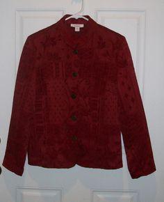 NWOT Dressbarn sz Small Misses Women's Textured Red Dress Jacket #dressbarn #FittedDressJacket