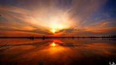 'Sunset lake' by Leon