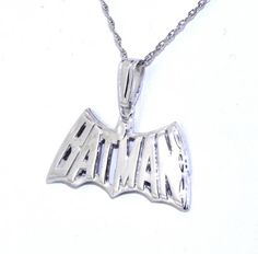 14K White Gold Batman Charm >>> Be sure to check out this awesome product.