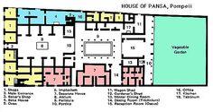Roman House Layout - House of Pansa, Pompeii