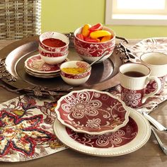 Shabby chic meets modern chick in the Pier 1 Maribeth Dinnerware