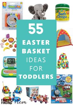 Need Easter basket ideas for toddlers? Here you'll find 55 Easter basket ideas for boys and girls that they are sure to love! Fill your kids' Easter baskets with bubbles, bath toys, dress up clothes, and even their favorite treats like Goldfish crackers, fruit snacks, and more. Head on over and be inspired by these fun Easter gift ideas.