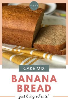 This delicious and easy Cake Mix Banana Bread Recipe will blow you away with flavor. Once you try it, it's sure to become a family favorite in your recipe rotation! Cake Mix Banana Bread, Gluten Free Banana Bread, Banana Bread Recipes, Fruit Recipes, Easy Recipes, Best Homemade Bread Recipe, Best Food Ever, Sweet Bread, Food Print