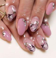 Creative Nail Designs, Beautiful Nail Designs, Creative Nails, Nail Art Designs, Fancy Nail Art, Fancy Nails, Pretty Nails, Silver Nails, Pink Nails
