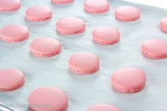 Raspberry Macarons - Simply Home Cooked French Macaroons, White Chocolate Raspberry, Macaron Recipe, Valentines Food, Macarons, Baked Goods, Cake Decorating, Sweet Tooth, Bakery