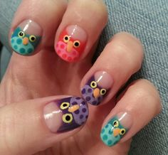 #Owls #nails