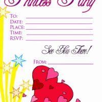 Hearts and Star Princess Party Invitation