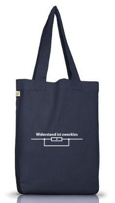 Shirtstreet24, WIDERSTAND IST ZWECKLOS, Jutebeutel Stoff Tasche Earth Positive, Größe: onesize,Jeans Blue - http://herrentaschenkaufen.de/shirtstreet24/one-size-shirtstreet24-widerstand-ist-zwecklos-7