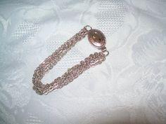 Avon bracelet 1970s multistrand silvertone by vintagebyrudi
