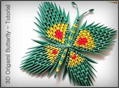 3D Origami Butterfly - Tutorial • Art Platter