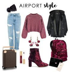 """airport chic!"" by anastasia-fashion on Polyvore featuring Topshop, Alexandre Birman, Victoria's Secret, Marni, Balmain and airportstyle"