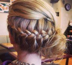 Dance recital hair