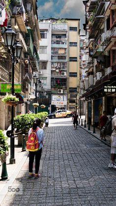 Streets of Macau, China
