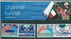 1994 - GB Opening of Channel Tunnel Presentation Pack NO 247 Channel Tunnel, Postage Stamps, Great Britain, Wildlife, Presentation, Packing, Baseball Cards, England, Graphics