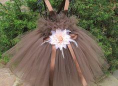 CHOCOLATE BROWN.Tutu Dress. Birthday Tutu Dress. by ElsaSieron