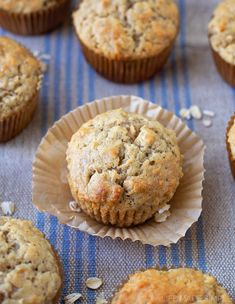 Breakfast has never tasted better with these tender, moist oatmeal banana muffins! Add a swirl of Nutella to the top and they'll be transformed into something even more delicious!