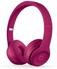 Beats by Dre Solo 3 Wireless On Ear Headphone Neighborhood Collection Brick Red (Renewed) Best Bluetooth Headphones, Cute Headphones, Headphones With Microphone, Noise Cancelling Headphones, Over Ear Headphones, Beats Solo 3, Black Beats, Ios Phone, Beats By Dre