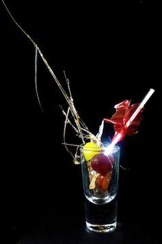 Carbonated Anti-Griddle™ 'Seared' Grapes - Purple Grape Glass - Fennel Sugar Strands