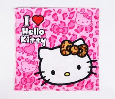 Hello Kitty Hand Towel: Pink Leopard