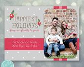 photo christmas card - happiest holidays