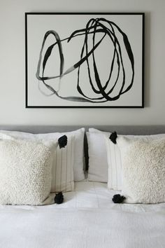 New Abstract Art In the Bedroom - Chris Loves Julia