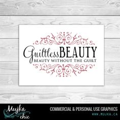Guiltless Beauty Logo Design Want a logo design for your company? Contact me! www.mujka.ca