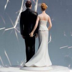 Figurine de mariés main au fesses