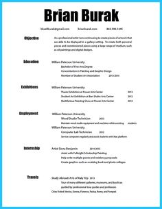 Artist Resume Template Awesome Artist Resume Template That Look Professionalhttp
