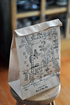 Ideas For Design Bags Paper Packaging Ideas Cute Packaging, Brand Packaging, Packaging Design, Branding Design, Paper Bag Design, Japanese Packaging, D House, Design Graphique, Map Design