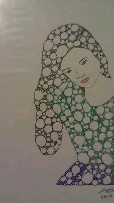 Girl Fractal Art