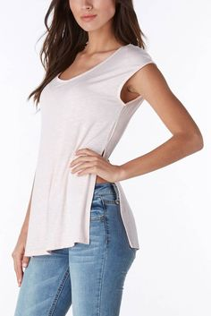 For the latest in womens fashion come check out our online store. Side slits make this basic tee super fun! #trendy