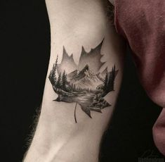Nature Tattoo Mountain Inspiration Ideas tattoo nature is part of Mountain tattoo - Time Tattoos, Leg Tattoos, Body Art Tattoos, Small Tattoos, Sleeve Tattoos, Sleeve Tattoo For Guys, Tatoos, Knee Tattoo, Cool Tattoos For Guys