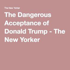 news daily comment dangerous acceptance donald trump