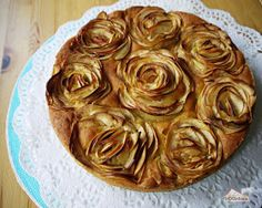 Apfel-Rosen-Kuchen Rezept und Fotoanleitung
