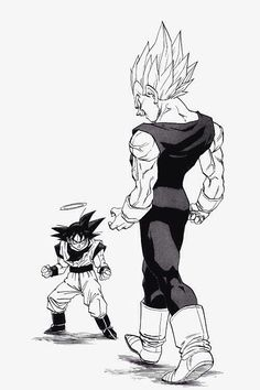 Majin Vegeta vs Goku l Dragonball Z Dbz Manga, Manga Dragon, Manga Art, Anime Echii, Anime Comics, Akira, Dragon Ball Z, Cartoon, Cosplay