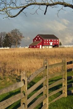 Farm & Rail Fence & Barn- Oh to live in a safe beautiful place with a family that loves you!