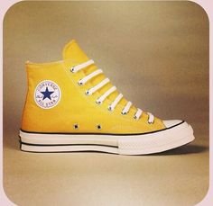 Converse in bright yellow