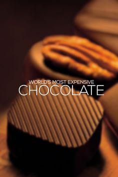 World's most expensive Chocolate Chocolate World, Chocolate Dreams, Chocolate Heaven, Swiss Luxury Watches, Luxury Watches For Men, Expensive Chocolate, Luxury Watch Brands, Most Expensive, Wow Products