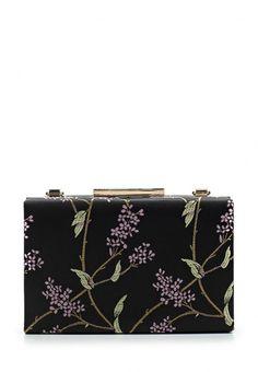 Клатч Dorothy Perkins выполнен из плотного текстиля. Детали: металлический каркас, застежка на замок, внутренний карман, съемный плечевой ремень.