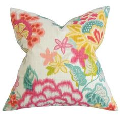 The Pillow Collection Lindsay Floral Bedding Sham Size: King
