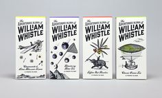 The Dieline Awards 2015: Editor's Choice - The Adventurous Blends of William Whistle — The Dieline - Branding & Packaging