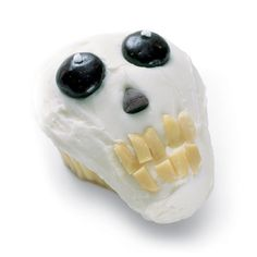 Skull Shaped Halloween Cupcake